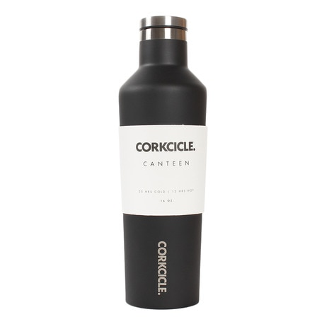CORKCICLE CANTEEN MATTE BLACK 16OZ 2016MB