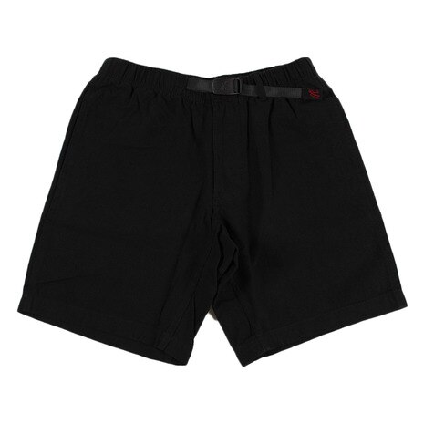 COTTON-LINEN ZIPPER SHORTS GMP-17S013-BLACK