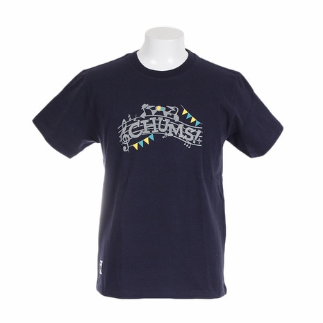 LB CHUMS Music Tシャツ CH01-1277-Navy
