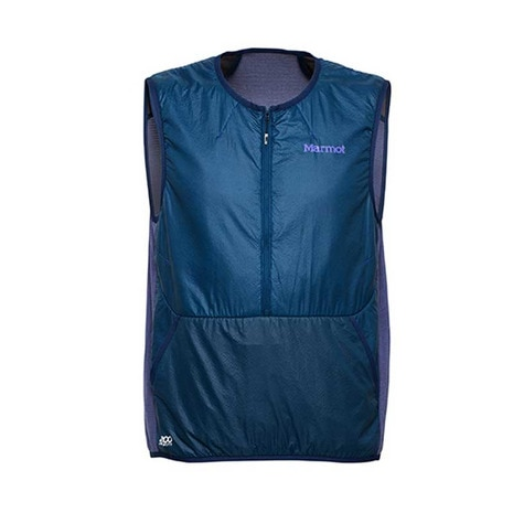 POLARTEC ALPHA POWER GRID VEST メンズ 中綿ベスト MJM-S7007 NBLU