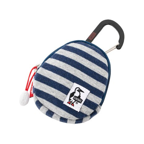 Egg Coin Case Sweat CH60-2187 H-Gray/Navy Border