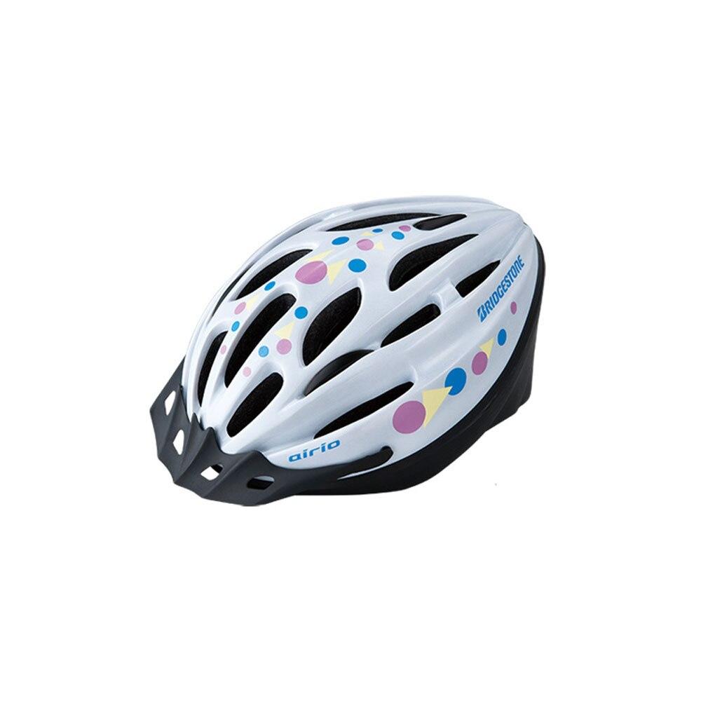 【セール実施中】【送料無料】airio エアリオ ヘルメット CHA5456 Mサイズ ジュニア 子供用 自転車 ヘルメット B371300 W ホワイト