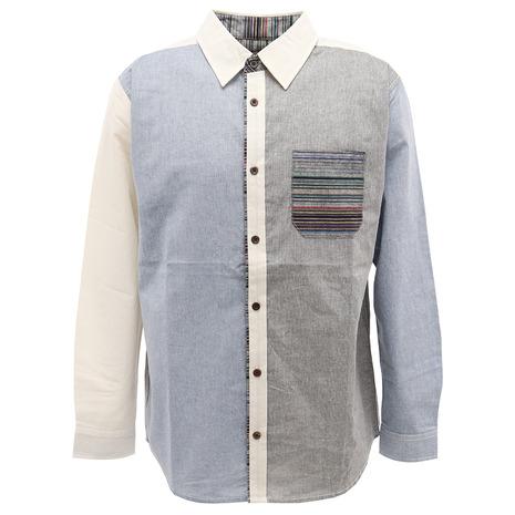ラグ切り替え長袖シャツ