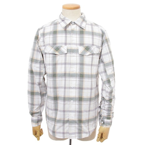 Silver Ridge Plaid Long Sleeve Shirt AE7441 025 Stone,Window Pane