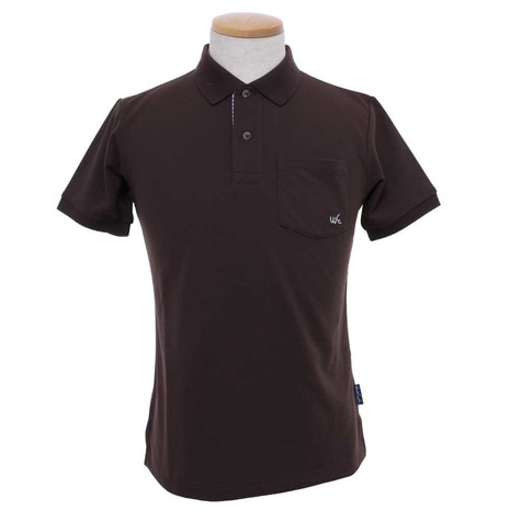 MENS ESSENTIAL SOLID POLO メンズ 半袖ポロシャツ WES17M02-5717 BRW