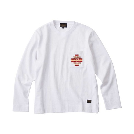 L/S Embro CJ Tee 19801699 WHITE