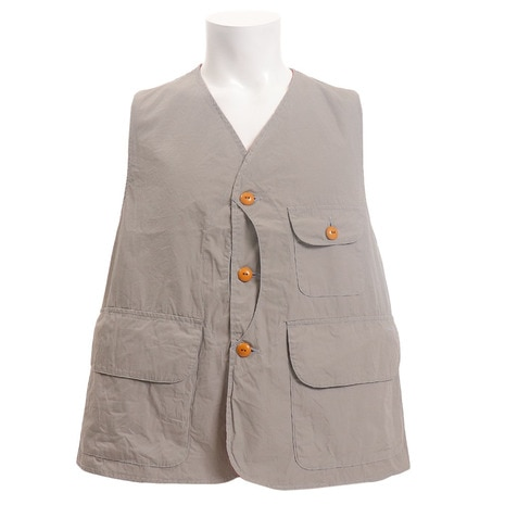Typewriter Cloth Hunter Vest 1901023-GREY