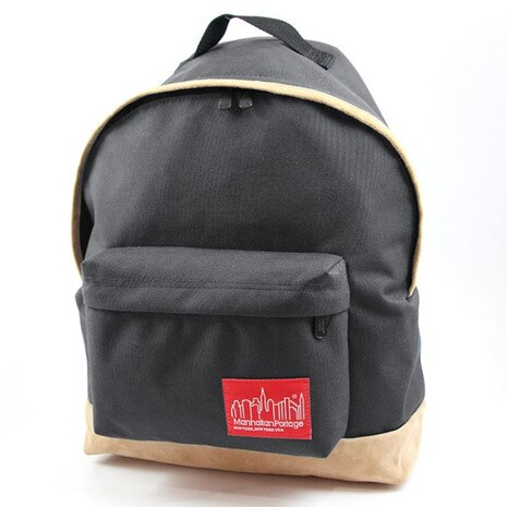 Manhattan Portage Suede Fabric Big Apple Backpack 1209SD13 Black