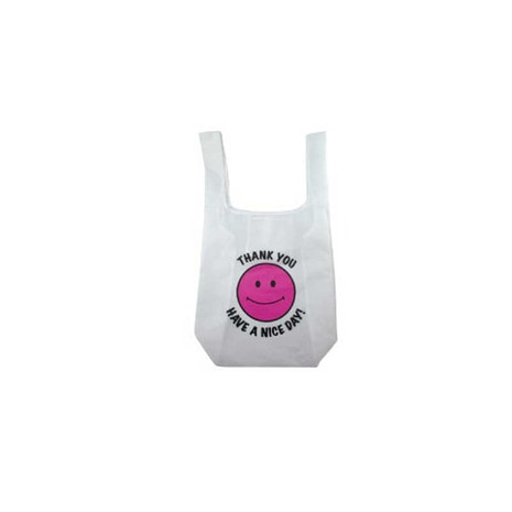 ECO BAG THANK YOU SMILE PINK エコバッグ 16603