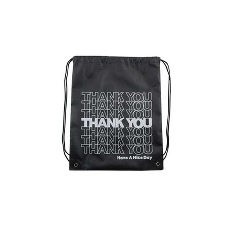 KNAP SACK THANK YOU BLACK ナップサック 220857