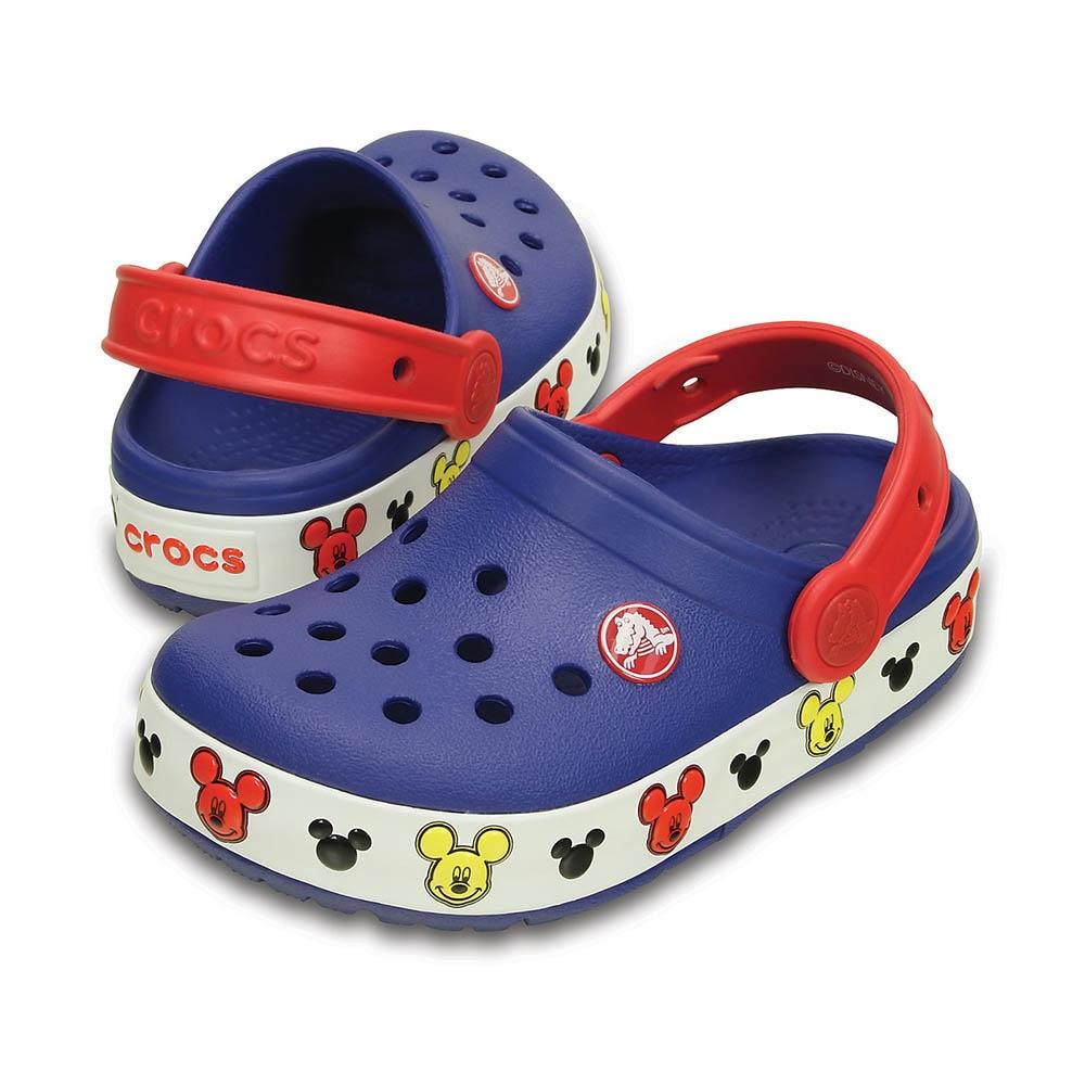 <エルブレス> crocslights Mickey clog kids ミッキー クロッグ キッズ 203072-4O5 Cerulean Blue画像