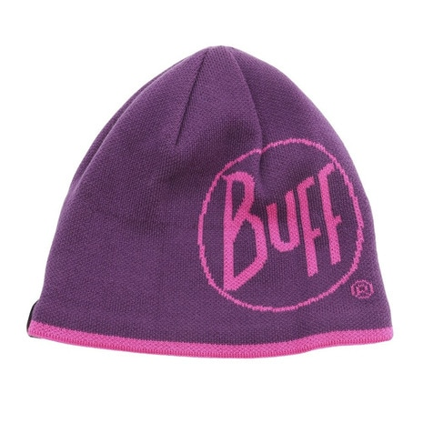 KNITTED & POLAR HAT LOGO PLUM @111000.622.10