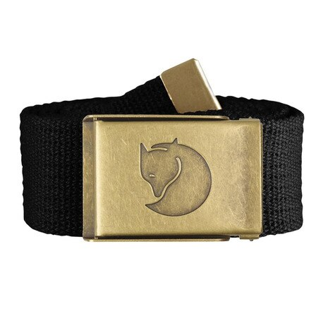Canvas Brass Belt 4cm 77297-550 Black ベルト