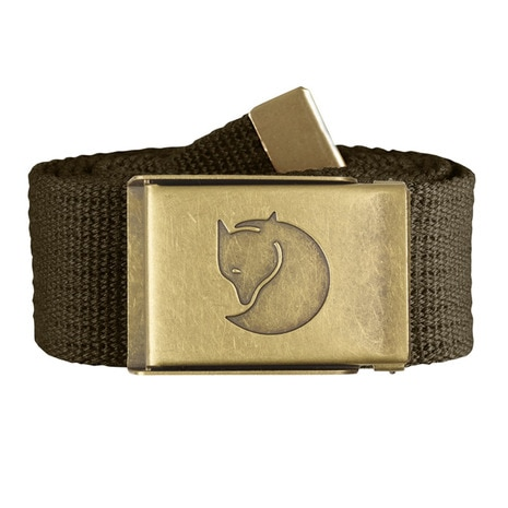 Canvas Brass Belt 4cm 77297-633 Dark Olive ベルト